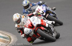 Enjolras loupe la 2e marche du podium du supersport