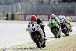 Bulle aux commandes du supersport