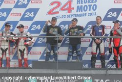 le podium final du championnat Mondial side car 2013