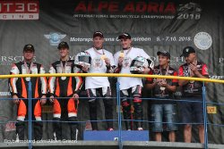 Podium final du championnat du Monde side car 2018
