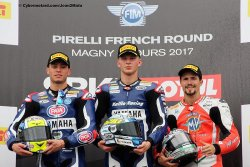 Un podium inhabituel en supersport