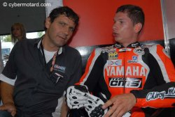 Eric Delcamp avec Axel Maurin au supersport de Magny Cours