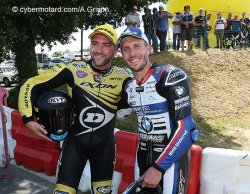 Une photo qui résume la confrontation du w.e. de Pau en superbike